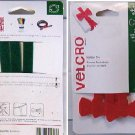 "VELCRO Brand - Holiday ONE-WRAP Shapes - 12"" x 1/2"" Ties 3ct - XMAS Trees & Bows"