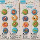 """8 pc PARTY FAVOR BUTTONS Asstd Designs WAY TO CELEBRATE 1"""" Pinback Pins 2 packs"""