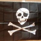 New Pirate 3' X 5' SKULL w/ Patch & CROSSBONE FLAG