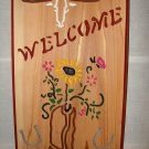 Medium Size Cowboy Boot Welcome Sign