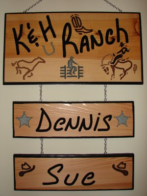 Large Personalized Wood Sign