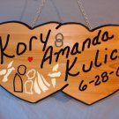 Double Heart Wedding Sign