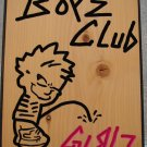Boyz Club Personalized Wood Sign