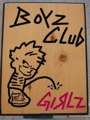 Boyz Club Wood Sign
