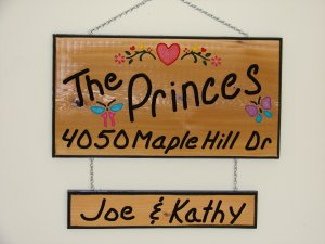 Large Personalized Wood Sign with Added Name