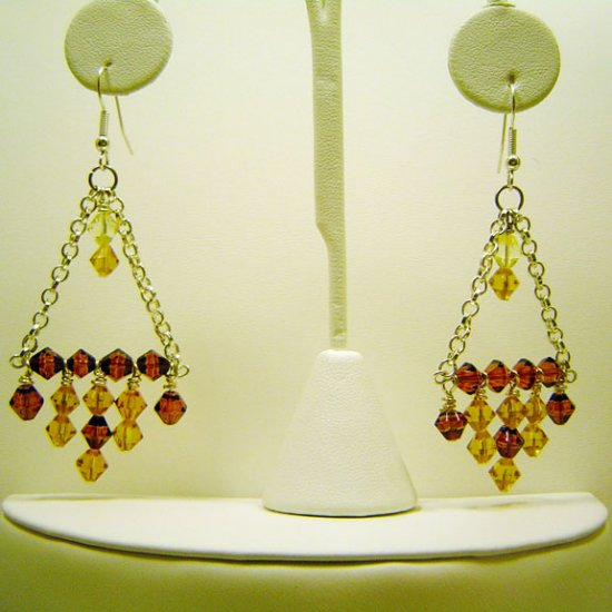 Handcrafted Chandelier Earrings Glass Beads