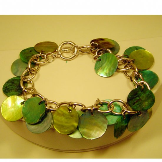 Light Blue and Green Bracelet