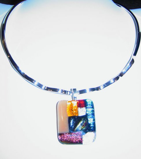 Assorted Colors Dichroic Glass with Choker