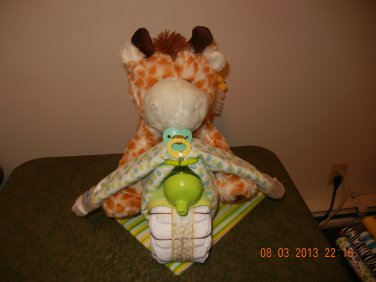 Giraffe Motorcycle Diaper Cake