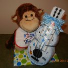 Monkey Guitar Diaper Cake
