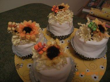 Bumblebee Onesie Cupcakes