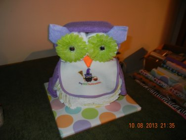 Halloween Owl Diaper Cake