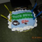 Football field diaper cake