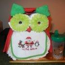 Xmas Owl Diaper Cake