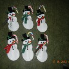 Snowman & Mice Candy Canes