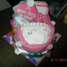 Owl Bath Time Bassinet Diaper Cake