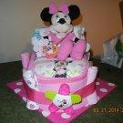 Disney's Minnie Mouse or Mickey Mouse Bath Time Bassinet Diaper Cake, Disney Theme Diaper Cake