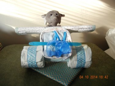 Small Airplane Diaper Cake