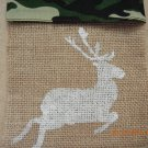 Reindeer, Xmas Tree & Angel Treat Bags, Party Bags, Goodie Bag, Xmas Party Favors, Burlap Bags