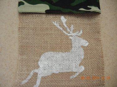Reindeer, Xmas Tree & Angel Treat Bags, Party Bags, Goodie Bag, Xmas Party Favors, Burlap Bags