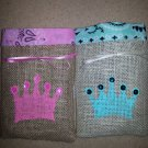 Princess Treat Bags, Burlap Treat Bags, Birthday Party Bags, Goodie Bag