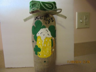 "Beer Mug Wine Bags  6"" x 15"",Burlap Wine Bags, Party Wine Bags,Centerpieces"