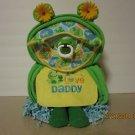 Frog Shape Diaper Cake - Frog Theme