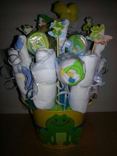 Diaper, Waschloths & Socks Bouquet