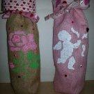 "Valentine's Wine Bags  6"" x 15"",Burlap Wine Bags, Party Wine Bags,Centerpieces"