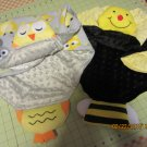 Cuddle Blanket, Critters Blanket, Animal Baby Blanket, Minky Blanket, Security Baby Blanket