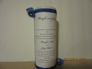 Wedding Candle, Wedding Ceremony, Wedding Invitation Candle, Unity Candle