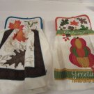 Hanging Holiday Potholder Dish Towel, Potholder Dish Towel Set, Kitchen Gift, Housewarming Gift