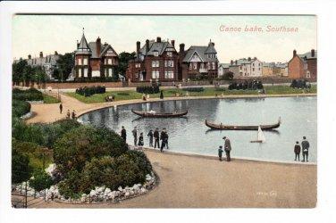 Canoe Lake Southsea Hampshire Postcard. Mauritron 220734