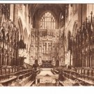 Winchester Cathedral Choir East Postcard. Mauritron 220738
