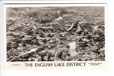 The English Lake District Photograph Aerial View Postcard. Mauritron 248419