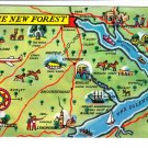 The New Forest Map Postcard. Mauritron 248443