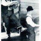 Laurel and Hardy Modern Reprint Postcard. Mauritron 249882