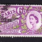 GB QE II Stamp 1963 Paris 6d MFU SG636 Mauritron 78018