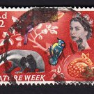 GB QE II Stamp 1963 Nature Week 4 1/2d MFU SG638 Mauritron 78032