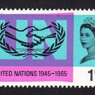 GB QE II Stamp 1965 United Nations 1/6d MM SG682 Mauritron 78035