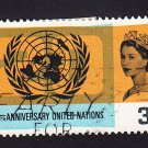 GB QE II Stamp 1965 United Nations 3d MFU SG681 Mauritron 78036