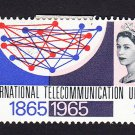 GB QE II Stamp 1965 ITU Centenary 9d MM Mauritron 78042