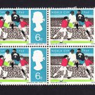GB QE II Stamp 1966 World Cup 6d Blk 4 UM (3) SG694 Mauritron 78011