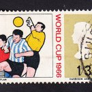 GB QE II Stamp 1966 World Cup 1/3d MFU SG695 Mauritron 78063