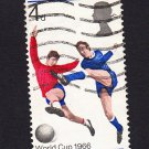 GB QE II Stamp 1966 World Cup 4d MFU PHOS SG693P Mauritron 78066