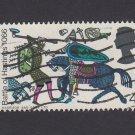 GB QE II Stamp 1966 Hastings 4d MFU SG708 Mauritron 78091