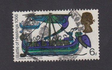 GB QE II Stamp 1966 Hastings 6d MFU SG711 Mauritron 78094