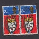 GB QE II Stamp 1966 Christmas 3d Blk 2 MFU SG713 Mauritron 78096