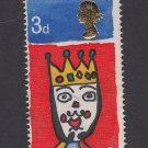 GB QE II Stamp 1966 Christmas 3d MFU SG713 Mauritron 78099