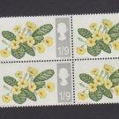 GB QE II Stamp 1967 Flowers 1/9d Blk 4 UM PHOS SG722P Mauritron 78107